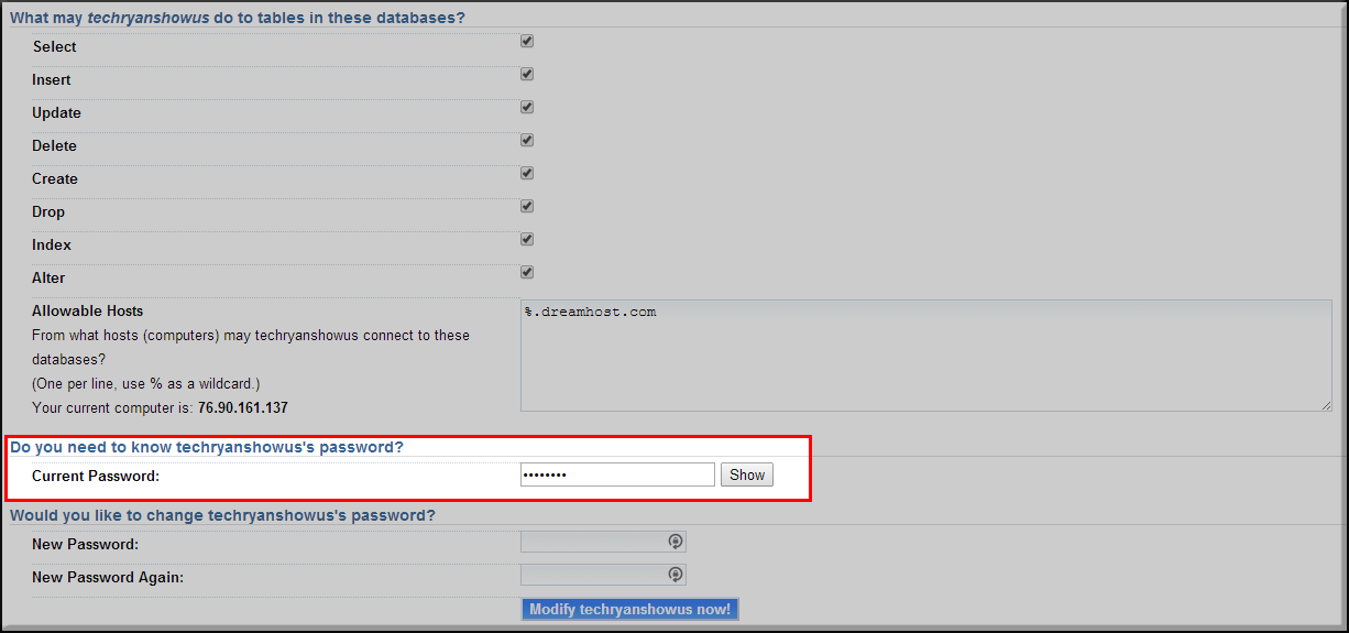 Database-User-Password