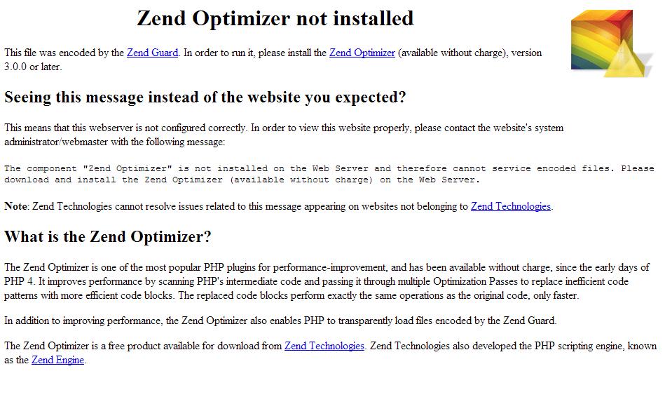 Zend-Optimizer-Not-Installed